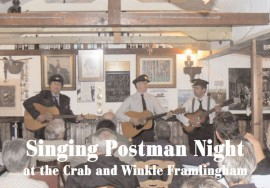 Singing Postman Night at Crab & Winkle, Framlingham